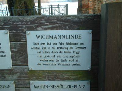 Tafel an der Wichmann-Linde