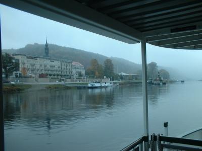 Herbstmorgen an der Elbe bei Schandau