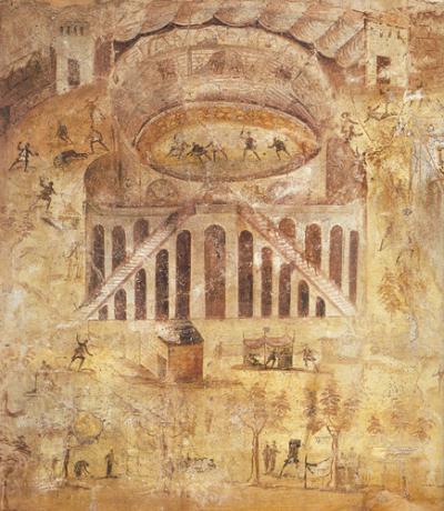 Fresco uit het huis van Actius