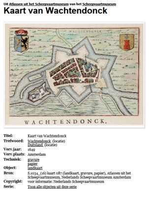 gekleurde kaart 1649