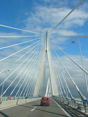 Brücke nach Patras, Griechenland