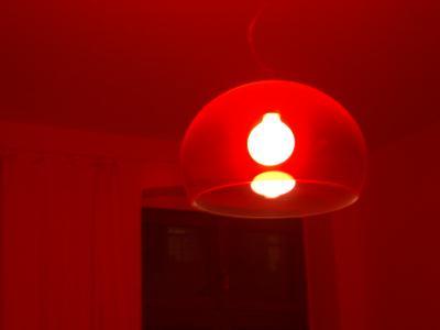 bei mir zu hause ist es im wohnzimmer rot